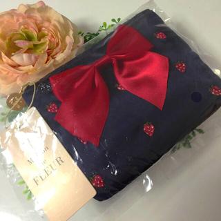 メゾンドフルール(Maison de FLEUR)の☆新品未使用☆メゾンドフルール♡いちご刺繍ティッシュケース♡ネイビー♡(ポーチ)