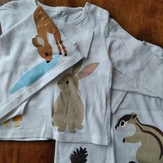 ムジルシリョウヒン(MUJI (無印良品))の長袖Tシャツ3枚セット 90(Tシャツ/カットソー)