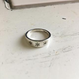 アガット(agete)のagete シルバー 3石 ダイヤ ジルコニア 0.034 中古 4号(リング(指輪))