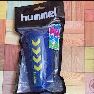 ヒュンメル(hummel)の新品 ヒュンメル レガース シンガード すね当て ジュニア サッカー フットサル(その他)