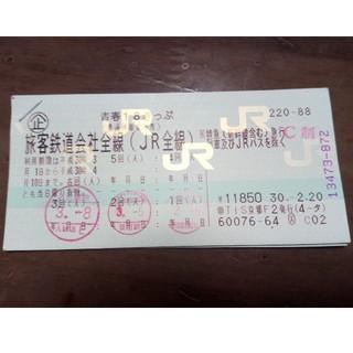 青春18切符 2回分(鉄道乗車券)