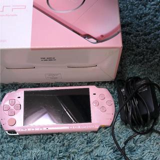プレイステーション(PlayStation)の才谷梅太郎様専用psp ピンク3000(携帯用ゲーム機本体)