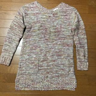 ジーユー(GU)のミックスカラー  ニットワンピース(ニット/セーター)