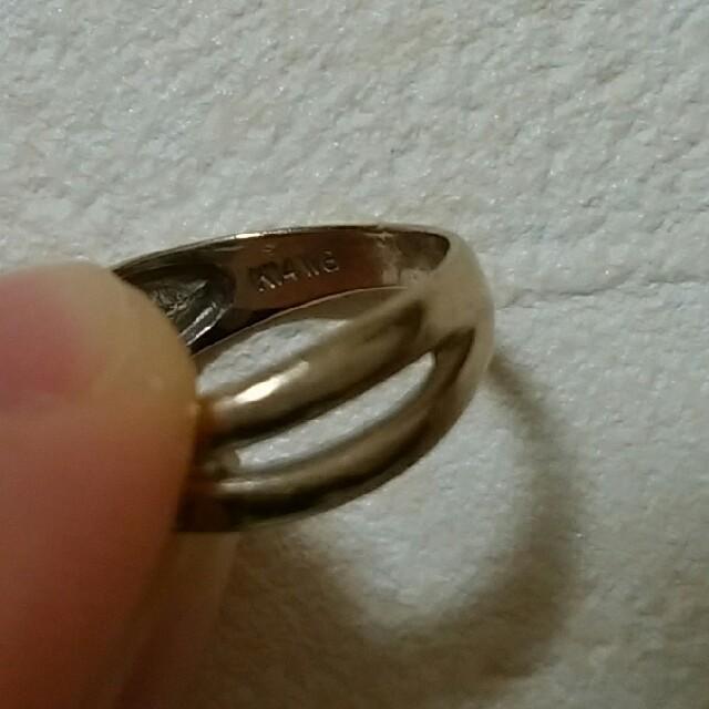 K14 WG ピンキーリング 5号 中古 レディースのアクセサリー(リング(指輪))の商品写真