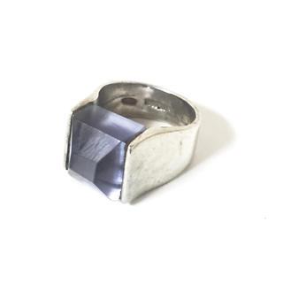 イオッセリアーニ(IOSSELLIANI)のイオッセリアー二  シルバーガラスリング(リング(指輪))