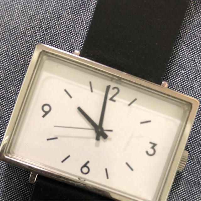 [新品未使用] 無印良品 シンプルなデザイン 腕時計 シルバー メタルバンド