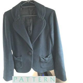 パターンフィオナ(PATTERN fiona)のめぐみに様専用☆ジャケット☆パターン☆黒☆おリボンが可愛い(テーラードジャケット)