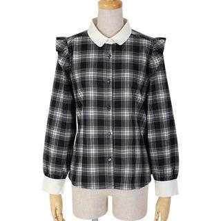 フィント(F i.n.t)のfint 襟付き チェックシャツ ブラウス(シャツ/ブラウス(長袖/七分))