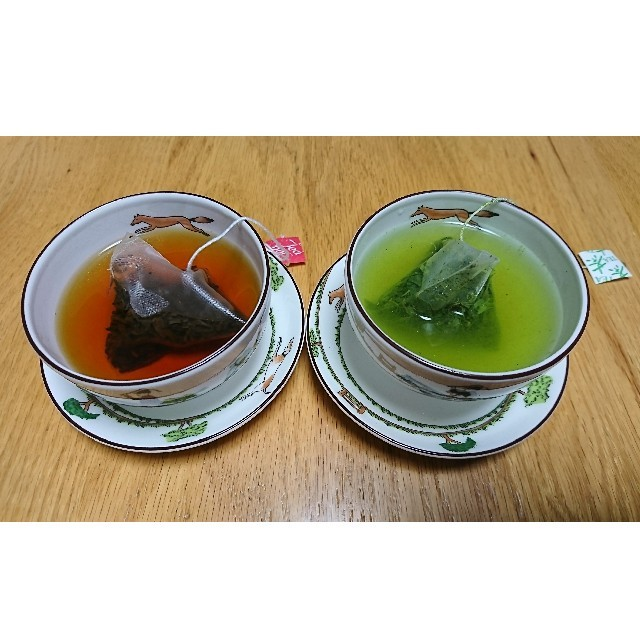 3プリン(4個入)・玉緑茶・和紅茶セット 食品/飲料/酒の食品(菓子/デザート)の商品写真