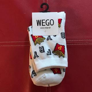 ウィゴー(WEGO)のポテト 靴下 ホワイト 白 レッド 赤 イエロー 黄(ソックス)