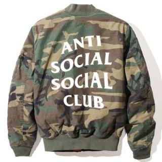 アンチ(ANTI)のassc ANTI SOCIAL CLUB CAMO MA-1(フライトジャケット)