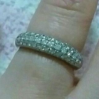 専用 Pt.900×ダイヤモンドハーフエタニティリング9号 ブランド不明 傷あり(リング(指輪))