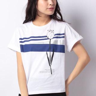 ストロベリーフィールズ(STRAWBERRY-FIELDS)の✨新品 未使用 タグ付き✨ ストロベリーフィールズ  プリントTシャツ(Tシャツ(半袖/袖なし))