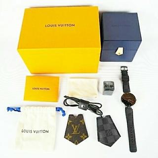 ルイヴィトン(LOUIS VUITTON)のルイヴィトン タンブール ホライゾン QA003 コネクテッドウォッチ(腕時計(デジタル))