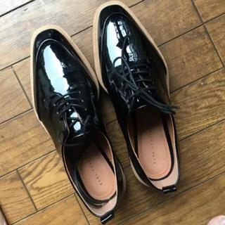 ザラ(ZARA)のZARA ♡ プラットフォーム ブルーチャーシューズ(ローファー/革靴)