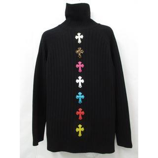 クロムハーツ(Chrome Hearts)の【極美品】 クロムハーツ クロスパッチ カシミヤ セーター 黒 (ニット/セーター)