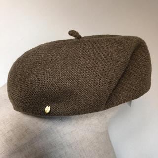 リリーブラウン(Lily Brown)のリリーブラウン ベレー帽 ダークベージュ 春夏(ハンチング/ベレー帽)
