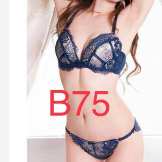 ⦅B75⦆ヌーディ感たっぷり♡ブラジャー&ショーツ(ブラ&ショーツセット)