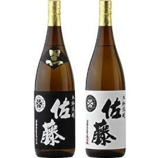 6本 佐藤 白 黒 1800ml 一升瓶 芋焼酎(焼酎)