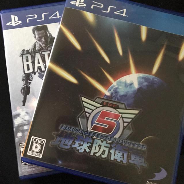 PlayStation4(プレイステーション4)のps4 地球防衛軍5 bf4  エンタメ/ホビーのゲームソフト/ゲーム機本体(家庭用ゲームソフト)の商品写真