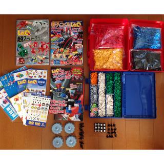 レゴ(Lego)のかこ様専用 LaQ 約1400g ハマクロー 本3冊 ケース付き(知育玩具)