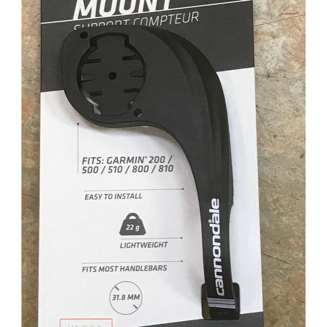 ガーミンエッジ用 軽量ハンドルマウント22g キャノンデール製 スポーツ/アウトドアの自転車(その他)の商品写真