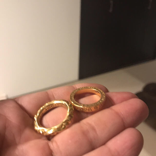 クロムハーツ(Chrome Hearts)のクロムハーツ 22Kスクロール、スペーサーリングセット売り(リング(指輪))