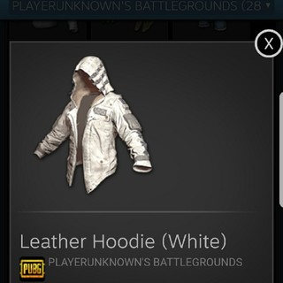 pubg leather hoodie white(PCゲームソフト)
