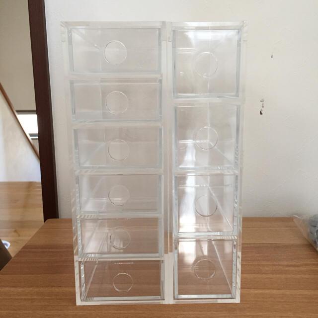 MUJI (無印良品)(ムジルシリョウヒン)の無印 アクリル ケース セット インテリア/住まい/日用品のインテリア小物(小物入れ)の商品写真