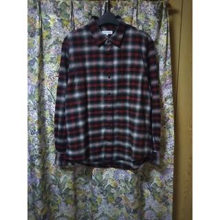 シマムラ(しまむら)の新品/しまむら/メンズ チェック柄 フランネル地 長袖シャツ/5L(シャツ)