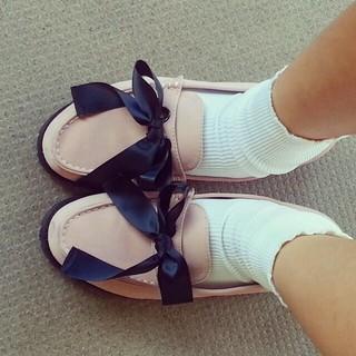 メリージェニー(merry jenny)のmerryjennyベロアリボンローファ(ローファー/革靴)