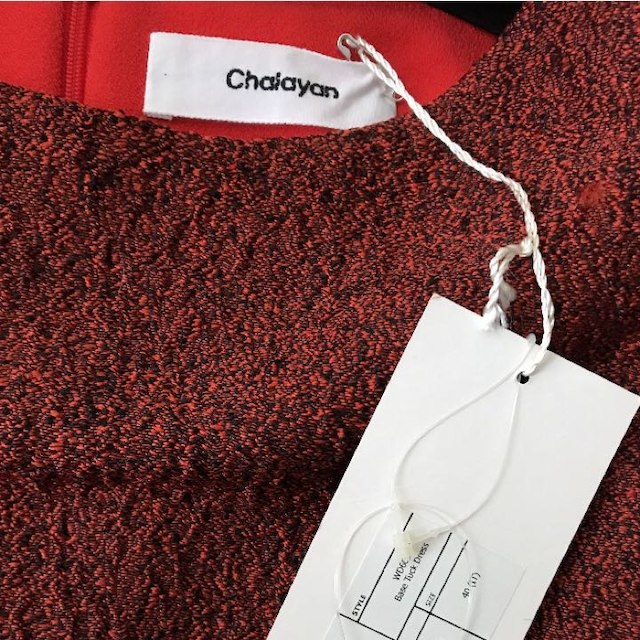 CHALAYAN(チャラヤン)の未使用保管  Chalayan   真紅のワンピース レディースのワンピース(ひざ丈ワンピース)の商品写真