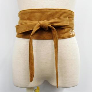 RONI - ロニ  17秋冬刺繍入りスウェード風サッシュベルト  キャメル  L