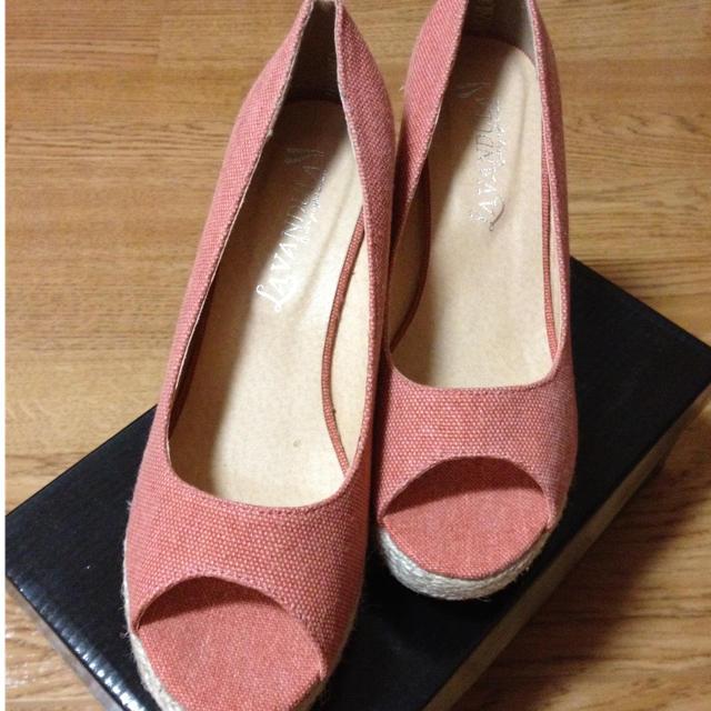 ウエッジソールサンダル オレンジ レディースの靴/シューズ(サンダル)の商品写真