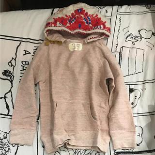 ゴートゥーハリウッド(GO TO HOLLYWOOD)のH♡T様 GO TO HOLLYWOOD 刺繍フード パーカー まだら ピンク(Tシャツ/カットソー)