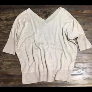 ムジルシリョウヒン(MUJI (無印良品))のVネックドルマンスリーブ 麻 無印良品(ニット/セーター)