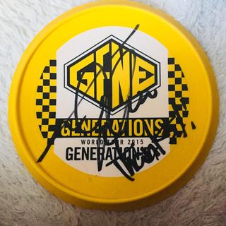 ジェネレーションズ(GENERATIONS)の小森隼サイン入りフリスビー(カード付)(サイン)