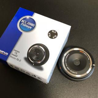 オリンパス(OLYMPUS)のオリンパス 9mm f8 フィッシュアイ ボディキャップレンズ(レンズ(単焦点))