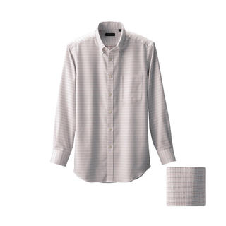 ユニクロ(UNIQLO)のUNIQLO ファインクロスチェックシャツ(長袖)K(シャツ)