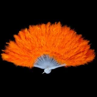 ジュリアナ 扇子 オレンジ バブリーダンス(小道具)