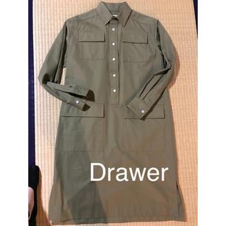 ドゥロワー(Drawer)のDrawer ドゥロワー カーキワンピース 新品‼︎ 36(その他)