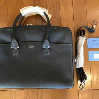【新品】Smythson スマイソン メンズ ビジネス バッグ<ネイビー>(ビジネスバッグ)