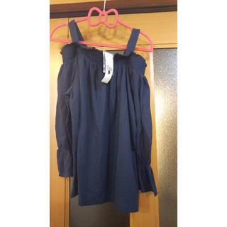 ジーユー(GU)のGU 2wayオフショルダーT 7分袖 新品タグ付(Tシャツ(長袖/七分))