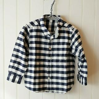 MUJI (無印良品) - サイズ100☆無印☆シャツ☆チェック☆ブラウス