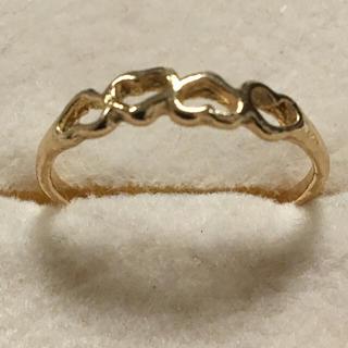 海外 プチ ゴールド 4 ハート シェープ リング 11号(リング(指輪))