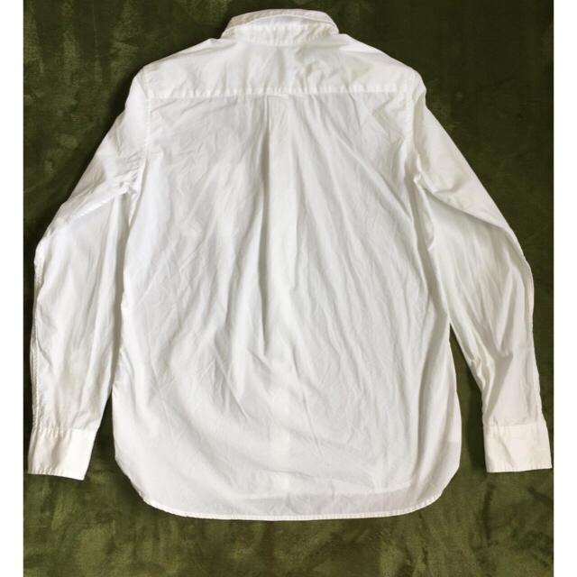 オーガニックコットン洗いざらしブロードシャツ 婦人S・ネイビー SALE コンビニ受取可