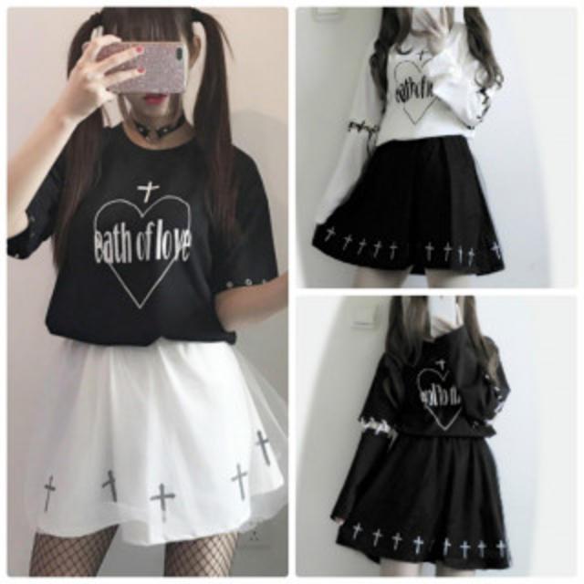 即発送 病みかわone spo To Alice 系 スカート Tシャツ セット