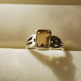 太陽の石◇スクエアシトリンシルバーリング[P007](リング(指輪))