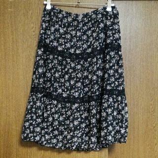 ドゥファミリー(DO!FAMILY)のドゥファミリー 膝丈 花柄 スカート(ひざ丈スカート)