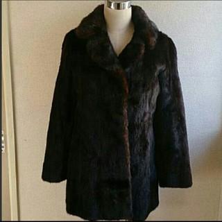昭和レトロ  GRACEグレースの高級ミンクBLACK GLAMA毛皮のコート(毛皮/ファーコート)